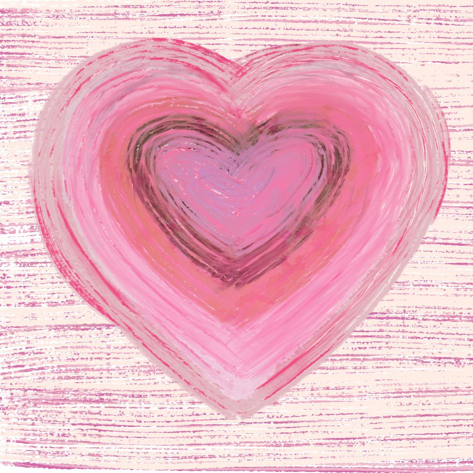 Big Pale Pink Heart by Tina Oloyede