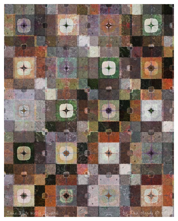 Some Quite Messy Squares by Tina Oloyede